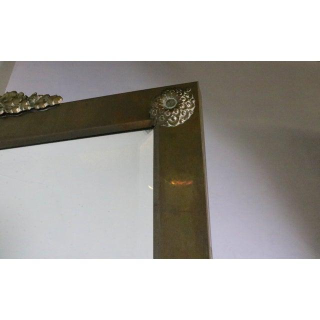 Hollywood Regency Brass Standing Mirror - Image 4 of 7