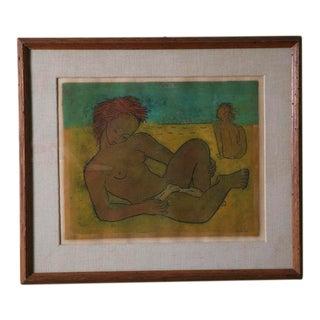 "Angel Botello ""Sunning Nudes"" Framed"