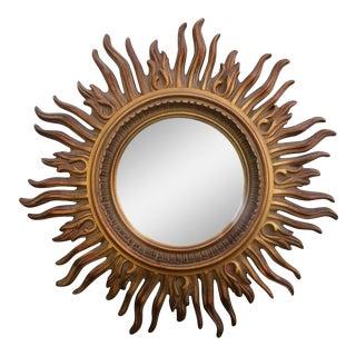 Gold Painted Sunburst Mirror