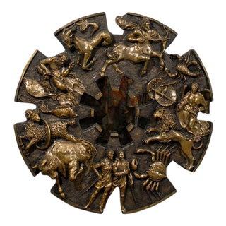 Dramatic Brutalist Zodiac Mirror