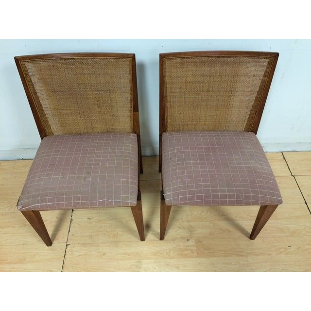 Edward Wormley Cane Back Chairs - A Pair - Image 4 of 11