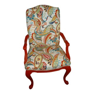 Red Paisley Paprika Chair
