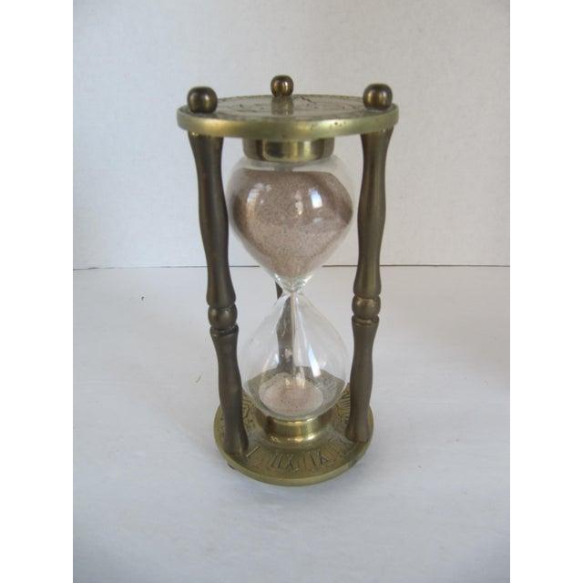 Vintage Brass Zodiac Hour Glass - Image 3 of 6