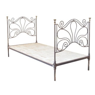 French Iron And Brass Day Bed