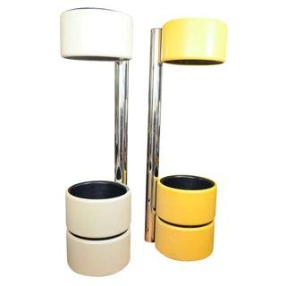 AMAZING AND UNUSUAL MOD FLOOR LAMPS STYLE OF JOE COLOMBO