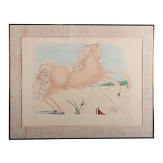 """Salvador Dali """"Horse"""" Etching With Aquatint"""