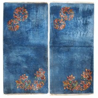 1920s Antique Chinese Art Deco Rugs - 2′ × 3′11″ - Pair
