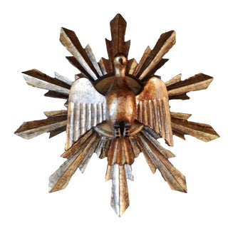 South African Wooden Dove Sunburst Wall Decor