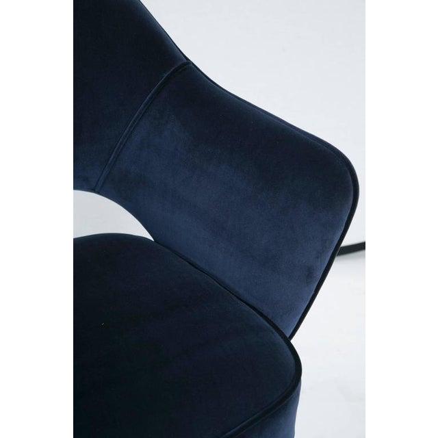 Saarinen Executive Armchair, Navy Velvet - Image 7 of 8