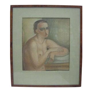 Untitled (Nude) by Edgar Scauflaire (Belgium,1893-1960)