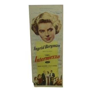 "Vintage Movie Poster ""Intermezzo"" 1939"
