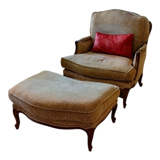 Century Furniture Chair & Ottoman Set
