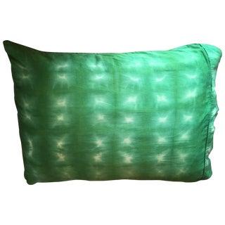 Hand-Dyed Emerald Shibori Sham