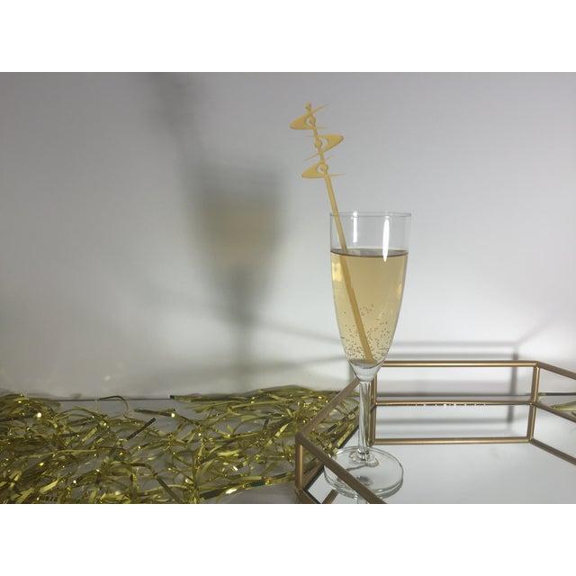 Tangerine Midcentury Boomerang Drink Stirrers - Image 4 of 5