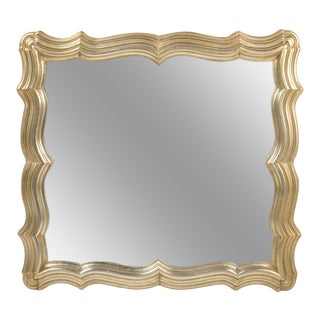 Dorothy Draper Scallop Frame Silver Leaf Mirror