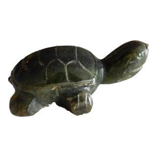 Miniature Jade Sculpture of a Turtle circa 1950's