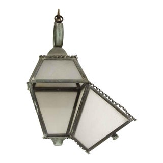 Hanging Copper Trimmed Lantern