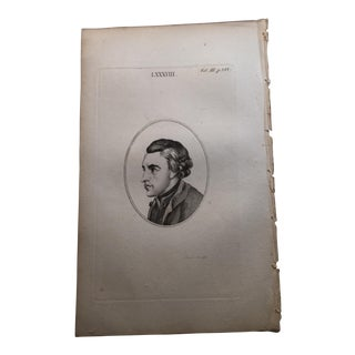 Young Man in Profile Antique Physiognomy Art Print, 1804