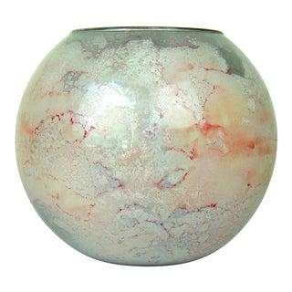 Jean Noel Bouillet French Modern Art Glass Reverse Painted Bowl