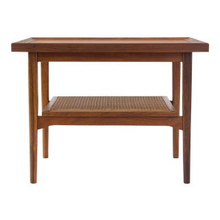 Drexel Declaration Side Table with Cane Shelf
