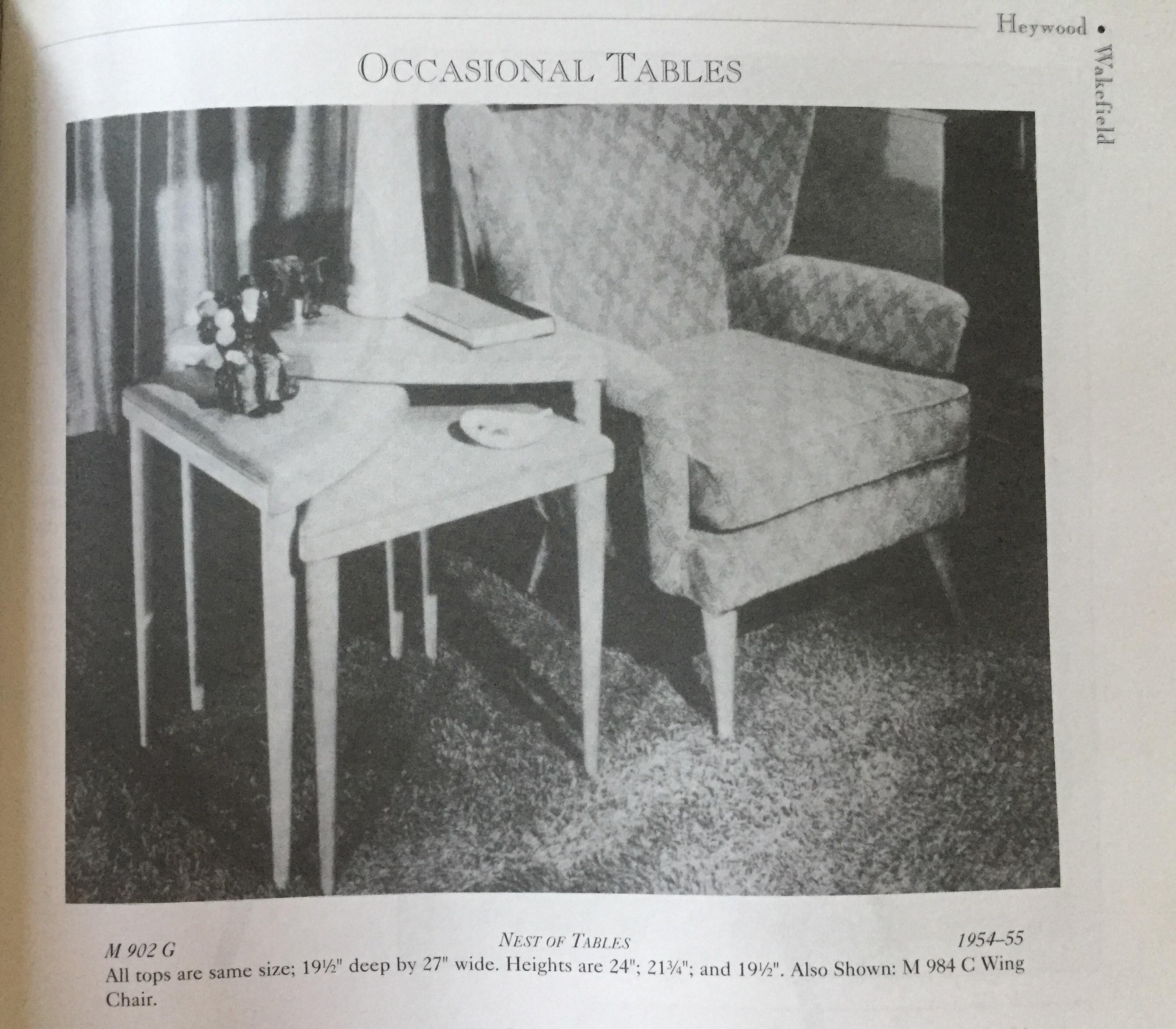 Heywood Wakefield Triangle Nesting Tables   Set Of 3   Image 5 Of 5
