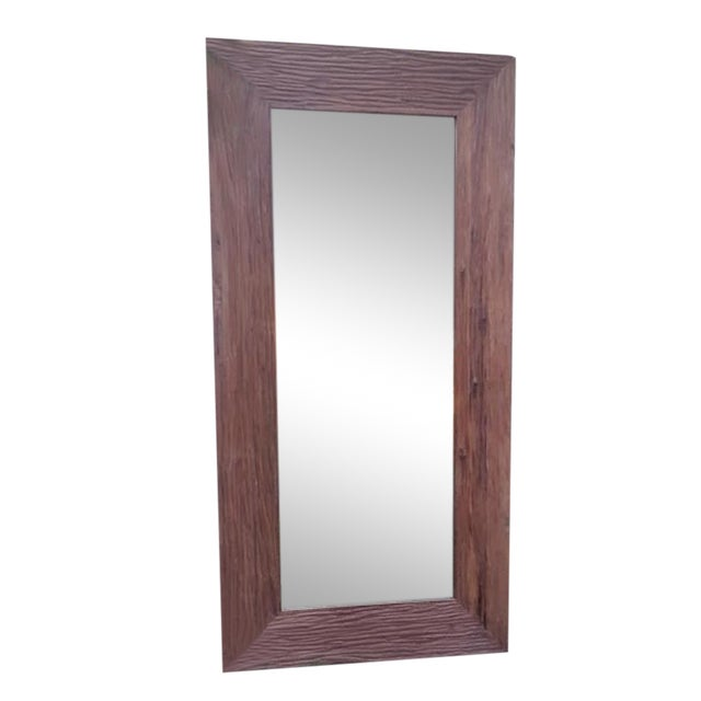 Reclaimed wood full length mirror chairish for Reclaimed wood flooring los angeles