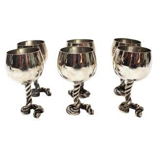 Vintage Gucci Silver Goblets - Set of 6
