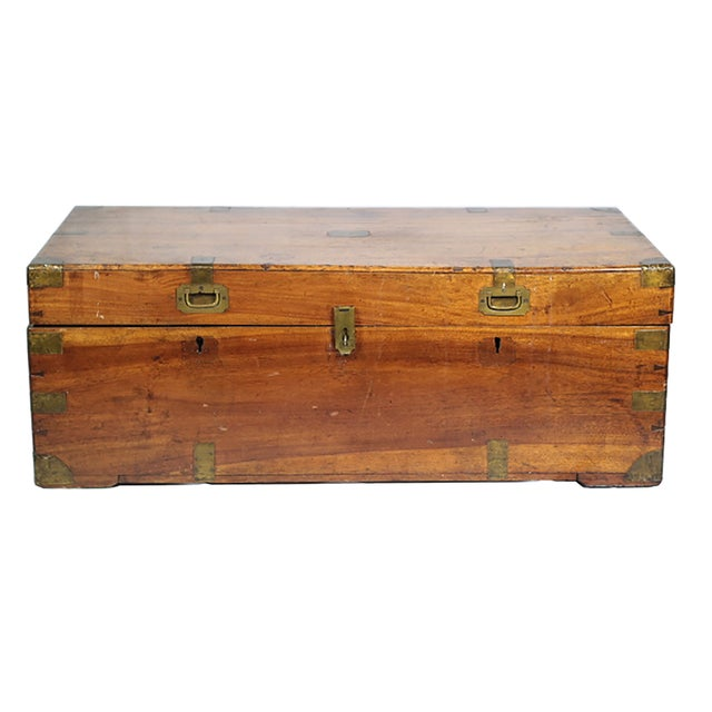 Early 19th Century Walnut and Brass Trunk - Image 1 of 10