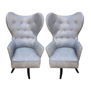 High Back Armchairs by Carl Gustav Hiort of Ornas