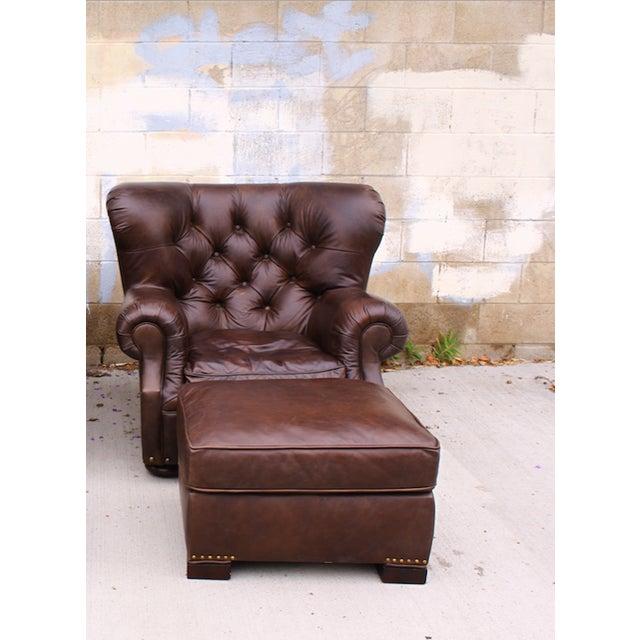 Leather Furniture Repair Fargo Nd: Restoration Hardware Churchill Chair & Ottoman