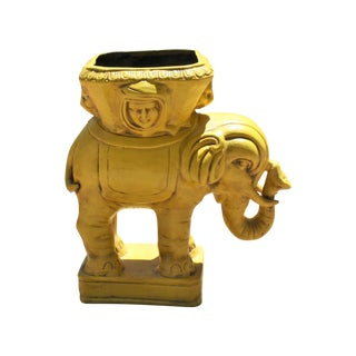 Large Mid-Century Elephant Planter