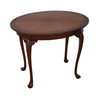 Alvin Rothenberger Mahogany Inlaid Oval Side Table