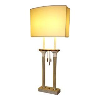 Monumental High Style Modernist Columnar Lamp Parzinger Style.