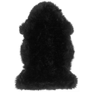 "100% Natural Sheepskin Rug, Black - 2'0"" x 3'0"""