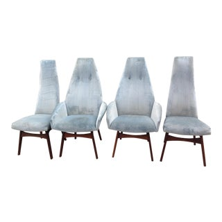 Adrian Pearsall Sculptural High Back Arm Chairs - Set of 4