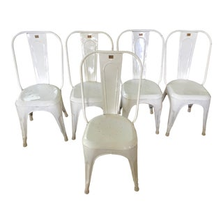 Vintage Tolix-Style Chairs - Set of 5