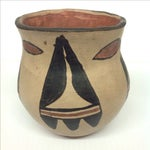 Image of Mid-Century Indian Pottery Vase & Bowl - A Pair