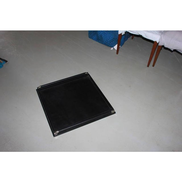 Oversize Ebony Leather Tray - Image 2 of 3