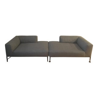 B&B Italia Michel Effe Chaise Lounge Sofas - a Pair