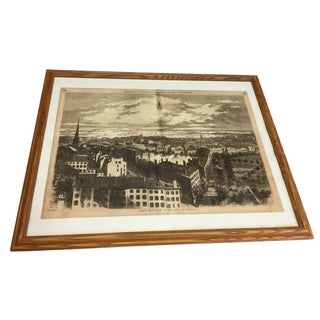 Antique Bird's Eye View of Boston Framed Print