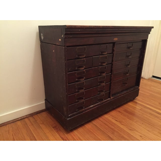 Multi-Drawer Antique Optical Cabinet - Image 2 of 7