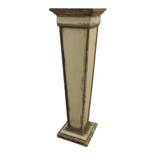 Vintage Square Distressed Painted Plinth
