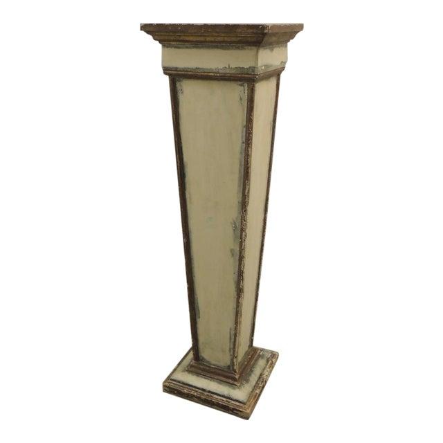 Vintage Square Distressed Painted Plinth - Image 1 of 5