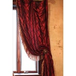 Image of Victorian Style Drapes in Burgundy - A Pair