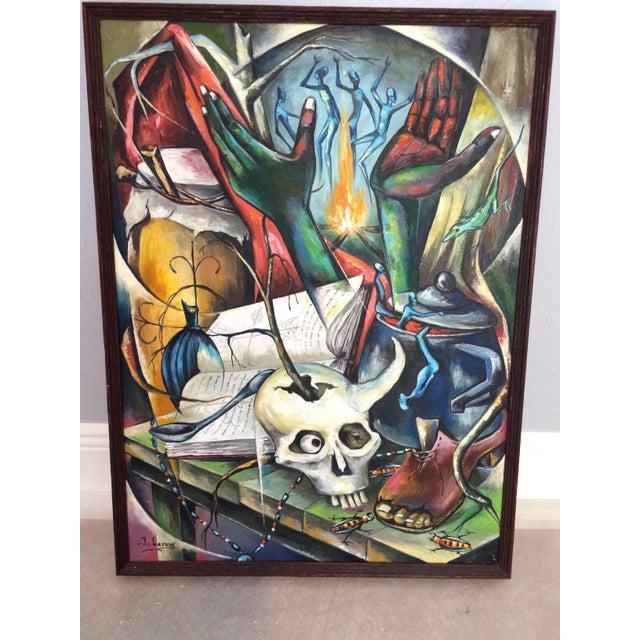 Haitian Voodoo Oil Painting, 1972 - Image 2 of 8
