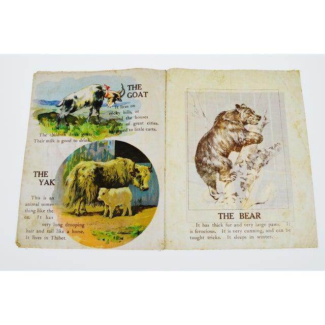 """Animals of All Lands"" Linen Children's Book - Image 6 of 11"