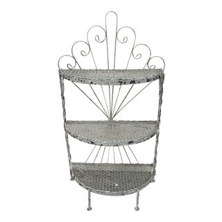 Shabby Chic Iron 3 Tier Shelf
