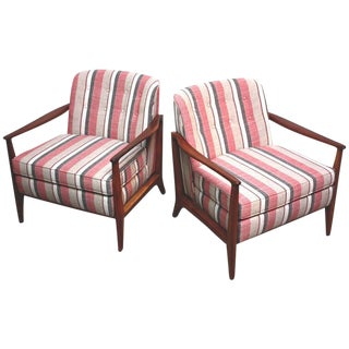 Pair of Baughman Style Tufted Lounge Chairs