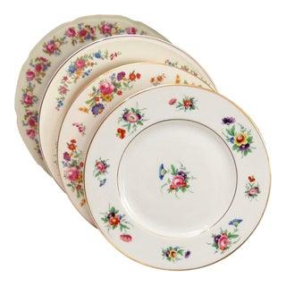 Vintage Mismatched Dinner Plates - Set of 4
