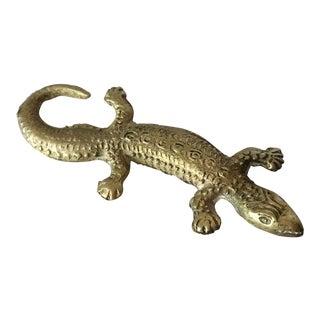 Brass Alligator Figurine
